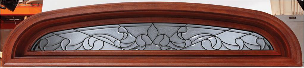 Elliptical Mahogany Glass C