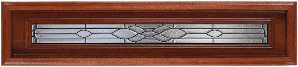 Rectagular, Mahogany Glass B