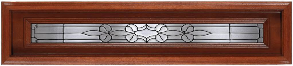 Rectagular, Mahogany Glass C